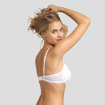 Dim Sublim Lace white push-up balconette bra , , DIM