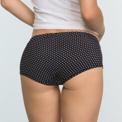 2 Pack Women's Shortys in Black and Polka Dot  Body Mouv, , DIM