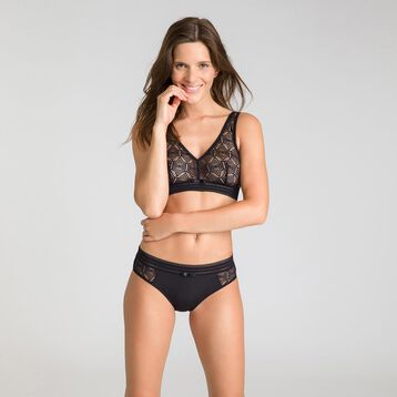 Daily Glam black Brazilian briefs - DIM
