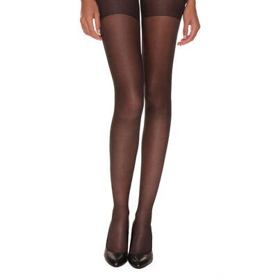 Black AbsoluFlex 20 sheer tights, , DIM