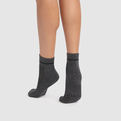 Dim Sport Light Impact women's non-slip ankle socks in grey, , DIM