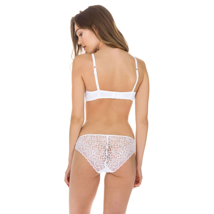 Sublim Dentelle lace bikini knickers in white, , DIM