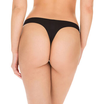 Black Invisi Fit second skin thong, , DIM