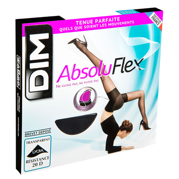 Collant noir AbsoluFlex transparent 20D-DIM