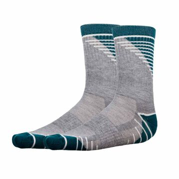 2 pack medium impact green and mottled grey men's socks - Dim Sport, , DIM