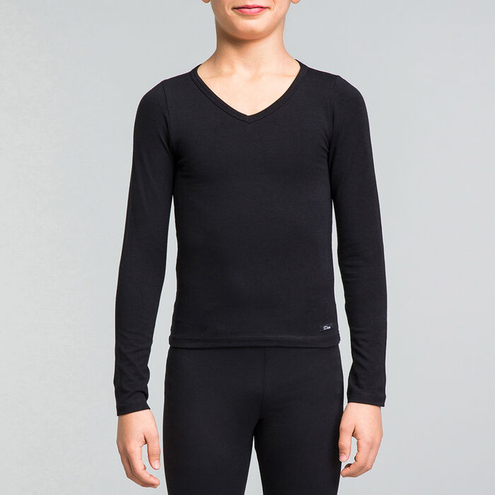 Black DIM Girl cotton long sleeved T-shirt - DIM