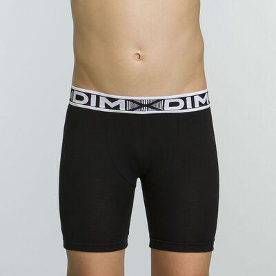 Basic Sport Cotton Stretch Boy's Black Shorts, , DIM