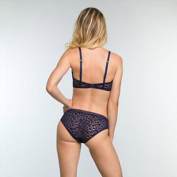 Soutien-gorge triangle Bleu Infini pour femme Leopard Line, , DIM