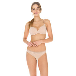 Invisi Fit second skin thong in barely beige, , DIM