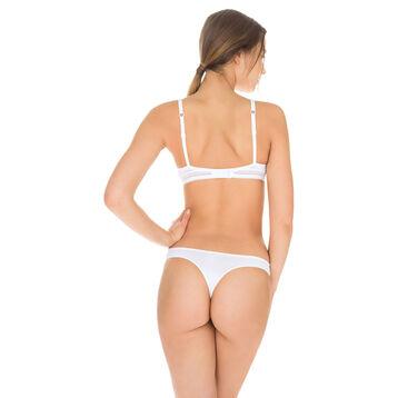 White Invisi Fit second skin thong, , DIM