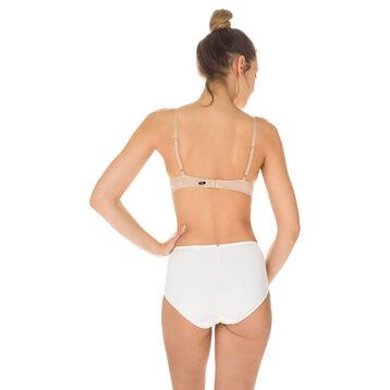 EcoDIM tummy-flattening high rise bikini knickers in pearl, , DIM