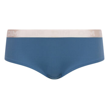 Antique blue shorty in cotton - Les Pockets, , DIM