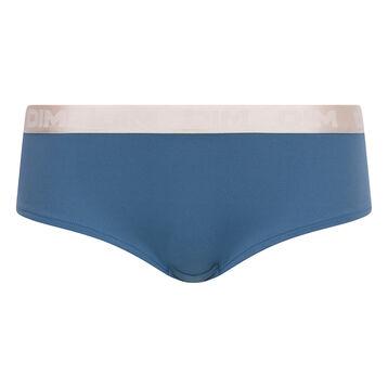 Shorty femme coton bleu antique - Les Pockets, , DIM