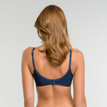 Microfibre night blue summer triangle bra - Beauty Lift, , DIM