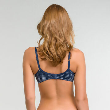 Blue padded bra with white dots - Dim Generous, , DIM