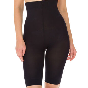 Diam's Action Minceur high-waisted long-leg active slimming shorts in black, , DIM