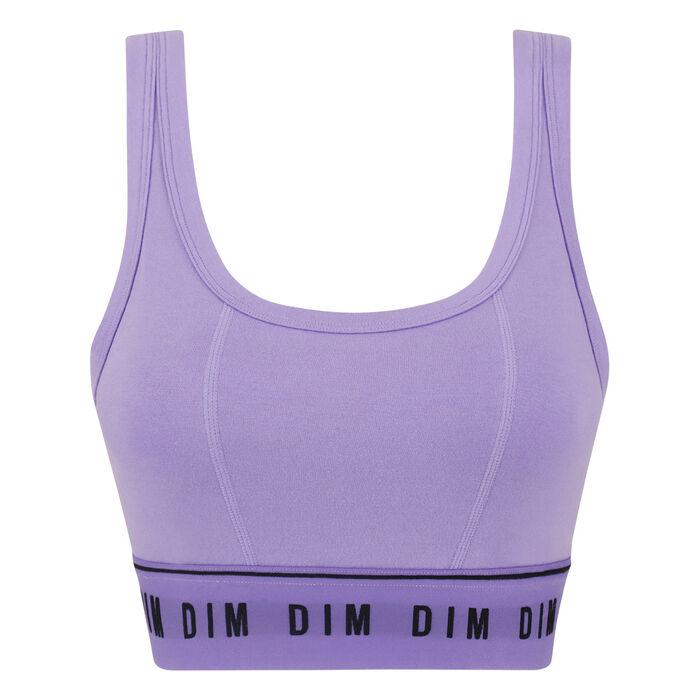 Non-wired bra in lilac Originals Cotton, , DIM