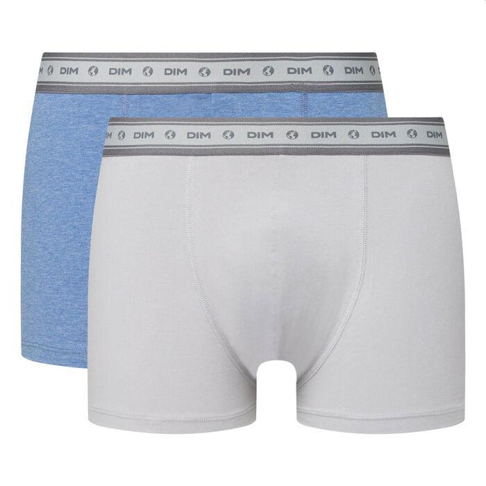 Lot de 2 boxers hommes coton stretch bio acier bleu nuit Green by Dim, , DIM