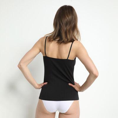 Lote de 2 camisetas interiores en negro/blanco Les Pockets de algodón, , DIM