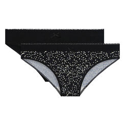 2 pack Ecodim Microfiber briefs in Black and Leaf Print, , DIM