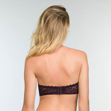 Sublim Dentelle Precious Purple full cup lace bandeau, , DIM