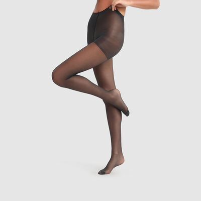Body Touch Dim 17D Black transparent veil tights, , DIM