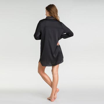 Nuisette chemise noire satin - Glamour Chic, , DIM