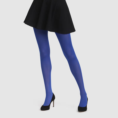 Sassy blue opaque velvet tights 50D Dim Style, , DIM