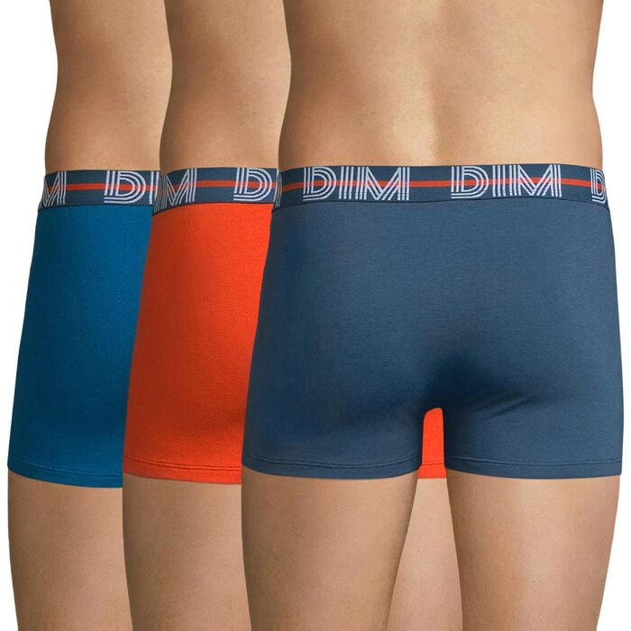 Lot de 3 boxers bleu, orange et gris bleu - Dim Powerful, , DIM