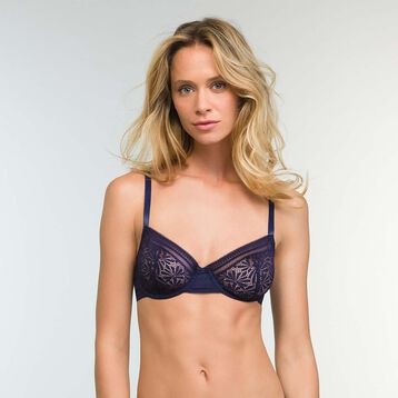Infinite Blue Lace Balconette Bra  Sublim Fashion, , DIM