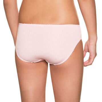 Powder pink DIM Girl microfibre printed knickers - DIM