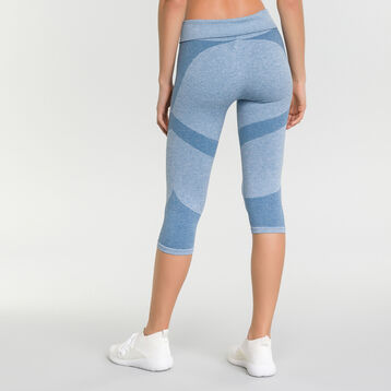 Mottled antique Blue leggings for women - Dim Sport, , DIM