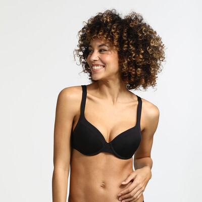 Black Generous Invisible bra, , DIM
