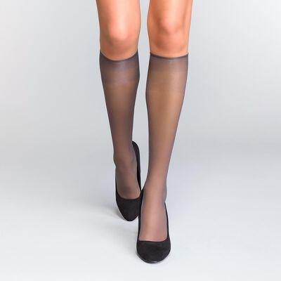 Комплект из 2 пар гольф-вуали Mes Essentiels перечного черного цвета 15D, , DIM