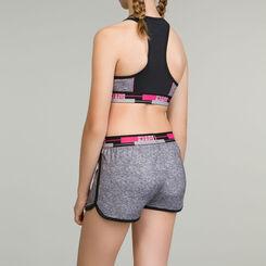 DIM Girl sports bra in heather grey, , DIM