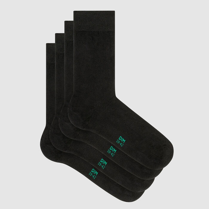 Pack of  2 pairs of socks for men lyocell Anthracite Green by Dim, , DIM
