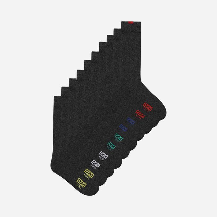 Pack of 5 pairs of grey EcoDIM socks for men, , DIM