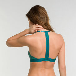 Green lace wireless triangle bra - MOD de Dim, , DIM