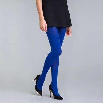 Style 50 velvety Neptune blue opaque tights - DIM