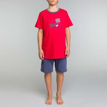 Red and blue pyjama set Dim Boy - Nuit up Star, , DIM