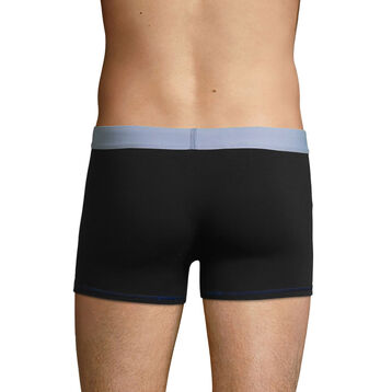 Men's stretch cotton trunks in Black and Sky Blue Color Mix , , DIM