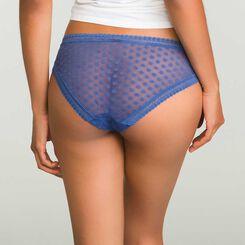 Porcelain blue polka dots brief Dotty Mesh Panty Box, , DIM