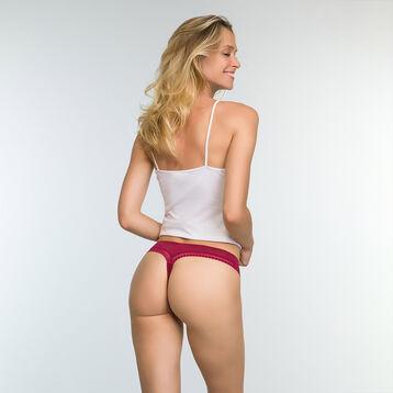 Women's microfiber thongs in Cherry Red Micro Lace Panty Box, , DIM