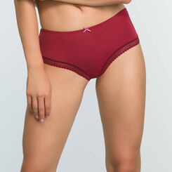 Cherry Red women's microfiber briefs Micro Lace Panty Box, , DIM
