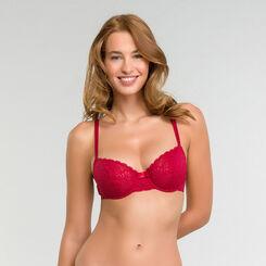 Demi-cup bra in imperial red - Sublim Dentelle, , DIM