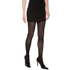 Black DIM Signature Semi-Opaque Douceur 40 velour tights, , DIM