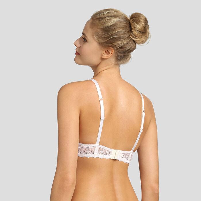 Soutien-gorge foulard push-up en dentelle graphique nacre Daily Glam , , DIM