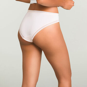 Blush Pink microfiber brief Micro Lace Panty Box, , DIM