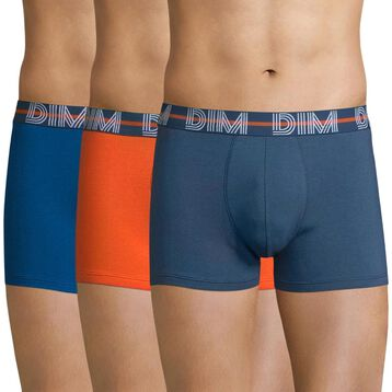 3-pack of blue-grey, blue and orange trunks  - Dim Powerful, , DIM