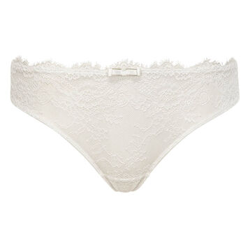 White lace and microfiber panties for women Refined Lace, , DIM
